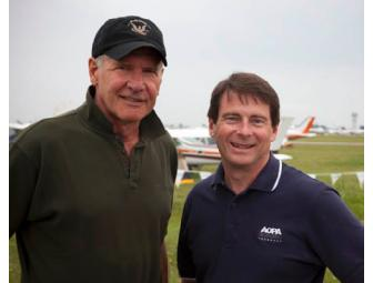 Dinner with Pilot and Actor Harrison Ford and AOPA's Editor in Chief, Sr. VP Tom Haines!