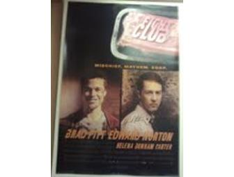 'Fight Club' Poster Signed by Edward Norton