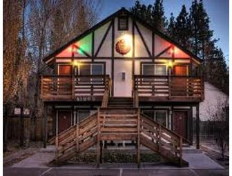 One night at the Romantic Kleine Haus Lodge at Big Bear Lake