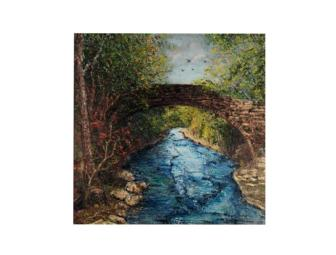Mina Novian Giclee of 'Bridge at Ithaca Water' & Signed by the Artist