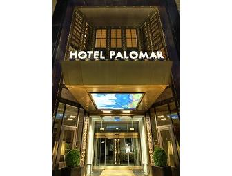 One night stay at Hotel Palomar Philadelphia & Dinner at Square 1682
