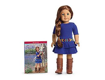 American Girl Saige Doll and Book
