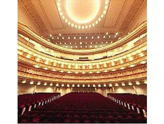 2012-13 CARNEGIE HALL Concert (2 Tickets) & Dinner at Trattoria Dell'Arte