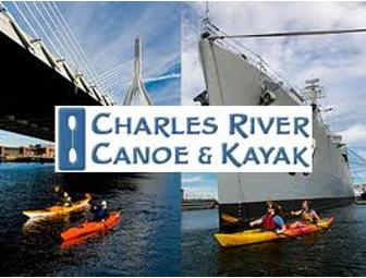 A day of Canoeing or Kayaking on the Charles River