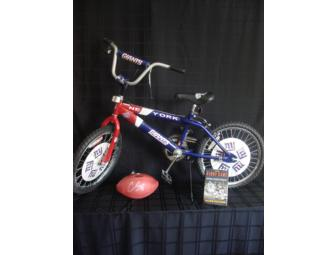 NY Giants Bicycle, Chris Snee Signed Football, Frank Gifford Book
