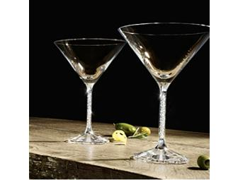 Two Crystalline Martini Glasses from Swarovski
