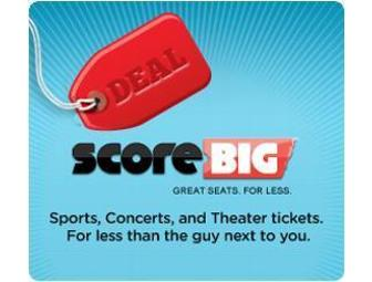 $50 voucher to ScoreBig for theater, sports, concert events