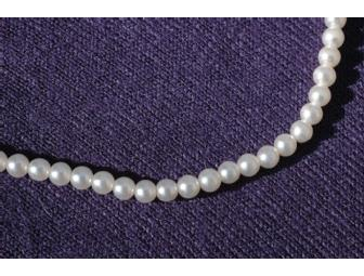 16' tiny pearl necklace