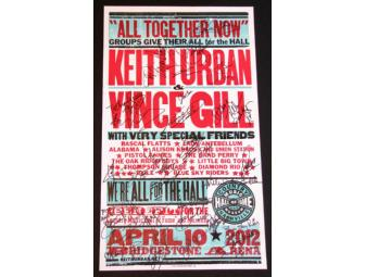 Autographed 'We're All for the Hall' 2012 Hatch Show Print