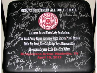 'We're All For the Hall' Concert Chair Autographed by ALL 2012 Artists