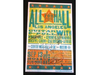 All for the Hall Los Angeles 2011 Autographed Hatch Poster