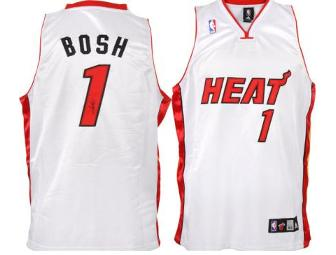 Chris Bosh Framed and Autographed Miami Heat Jersey