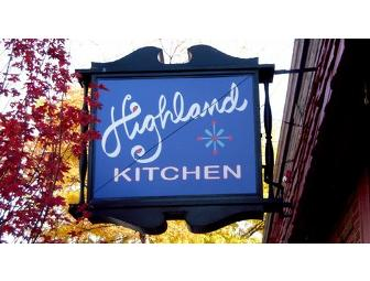 Highland Kitchen Gift Certificate!