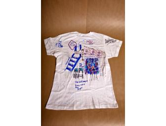 Red Hot Chili Peppers one-of-a-kind Unisex shirt decorated and signed by all band members