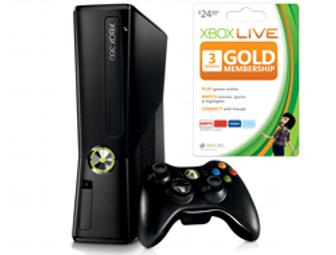 Microsoft Xbox 360® 4GB Console with Xbox LIVE 3-Month Gold Membership Card