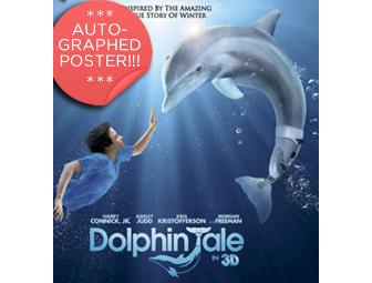 Dolphin Tale Movie Poster 36in X 60in Autographed by Winter the Dolphin!