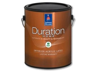 1 Gallon of Duration Home Latex Paint from Sherwin-Williams