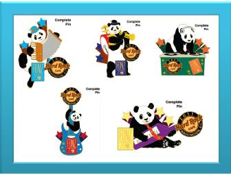 Hard Rock Café/FONZ Prototype Panda Pin Set