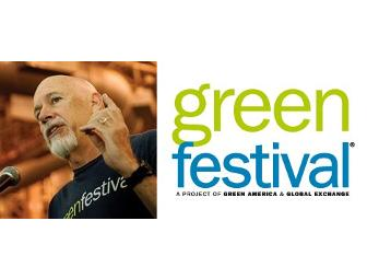 Green Festival VIP Passes, Tour and Lunch with Co-Founder Kevin Danaher