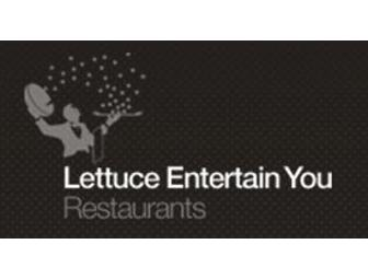 $50 Gift Certificate to Lettuce Entertain You