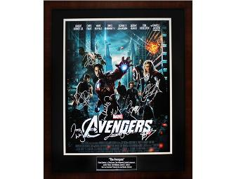 The Avengers Autographed and Framed 16X20 Movie Poster