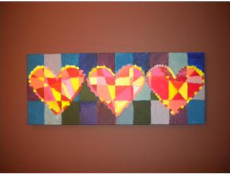 'Hearts' - Handpainted by Ms. Silverglate's Class