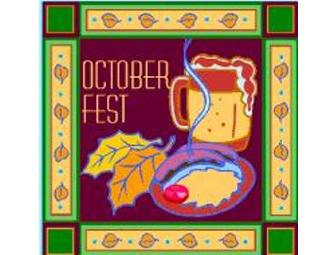 Celebrate Octoberfest on Saturday October 6th - A FUN way to meet other MR Parents.