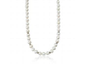 16 inch Cultured Pearl Necklace in sterling silver