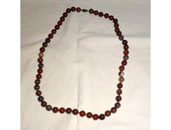 Round Stone Bead Necklace