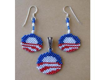Obama Earrings & Pendant