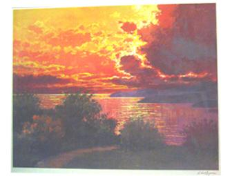 Anatold Krasnyansky 'Venice Yellow Sunset' 2003, 27'x29 3/4'