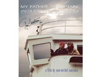 'My Father, The Captain: Jacques-Yves Cousteau' DVD signed by Jean-Michel Cousteau