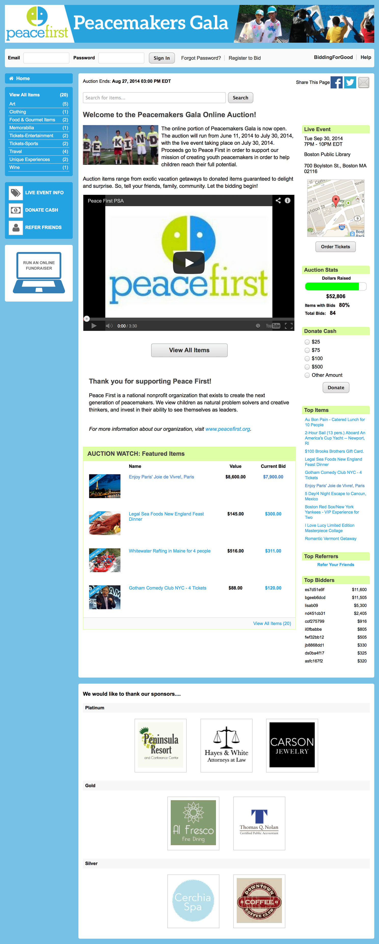 Auction Homepage Full Size