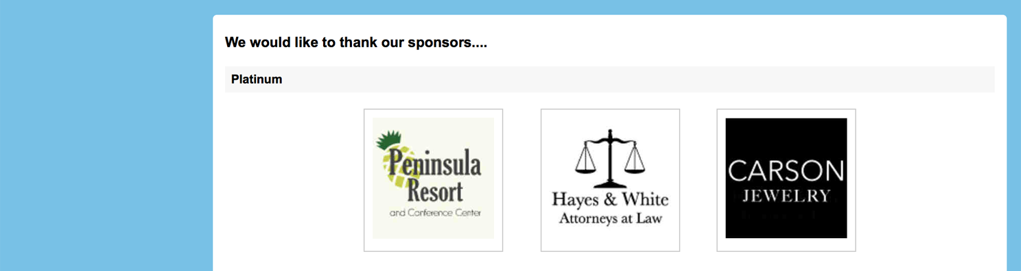Auction Homepage Sponsors