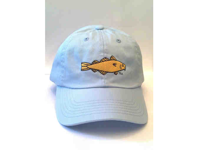 Golden Cod Design light blue hat 100% twill hat #1