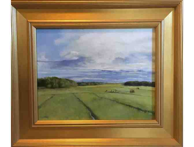 'Hay Road' framed oil on canvas by Michael Milczarek