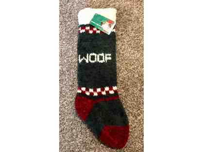 Christmas Stocking ~~ WOOF ~~  Chenille ~~  18