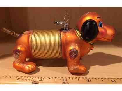 Christmas Ornament - Radko DOG PUPPY SLINKY DACHSHUND 2007 - Perfect Condition
