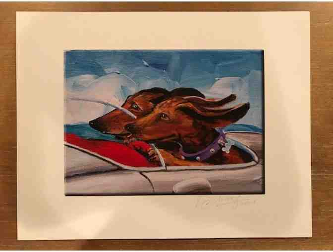 'Speeding Wieners' Print by Vern Scharf