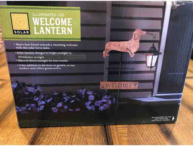 Dachshund Welcome Lantern
