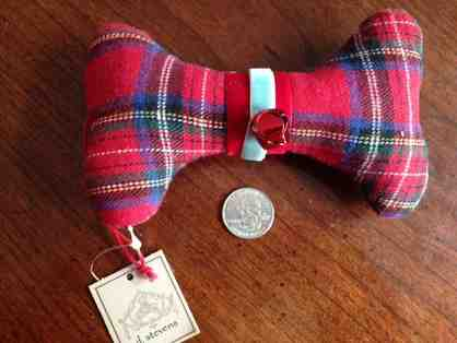 Red Plaid Stuffed Bone Ornament