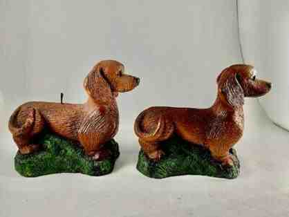 Candles!  TWO Dachshund  Candles from 1987 - Very unique!