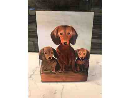 Painted Dachshund Stand-Up Plaque
