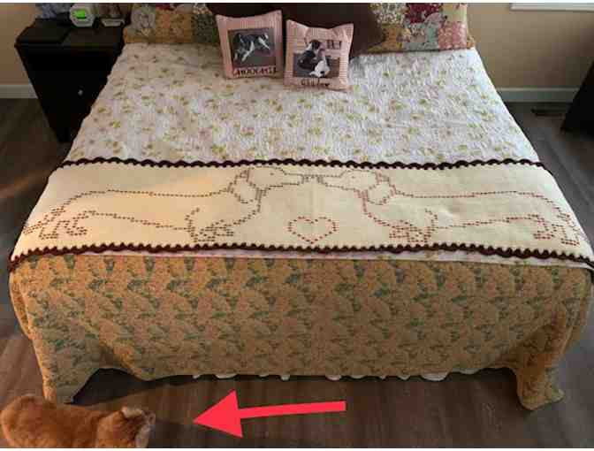 BUY A CHANCE TO WIN! - Crocheted Dachshund Afghan Bed Runner! (Max 100 tickets available!)