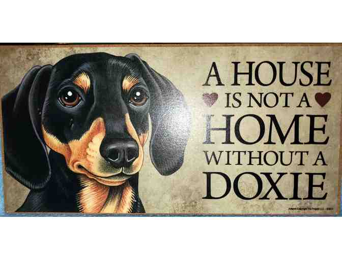2 plaques Spoiled Rotten Dachshund and House not a Home without a Dachshund - Photo 2