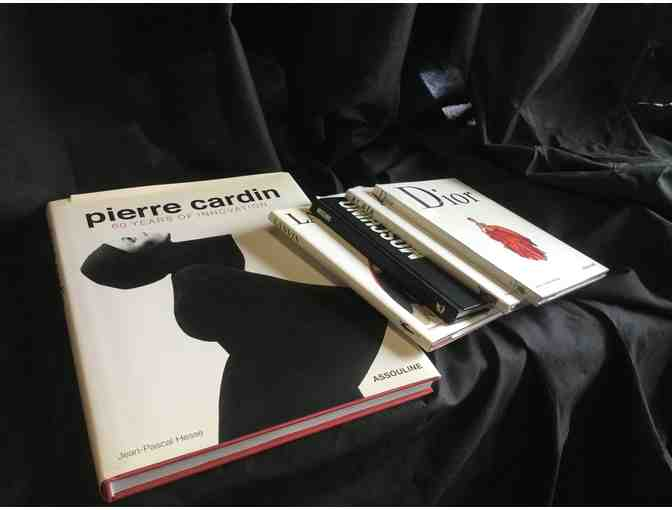 5 Fashion Books Bundle Pierre Cardin, Lanvin, Moschino, Alaia, and Dior - Photo 1