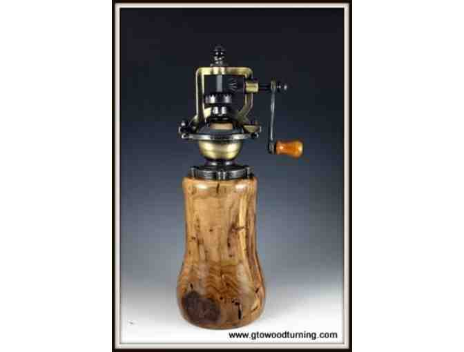 A Designer Vintage Style Peppermill from GTO Woodturning