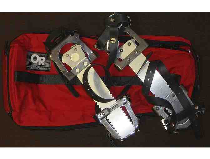 A Pair of Crampons from Outdoor Research in a Pouch - Size 2