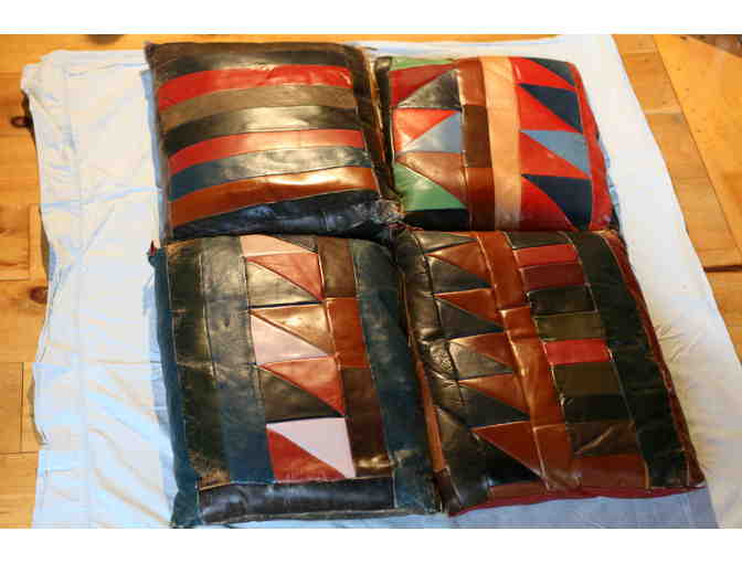 A Collection of Leather Pillows