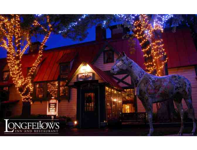 $50 gift certificate to Longfellows